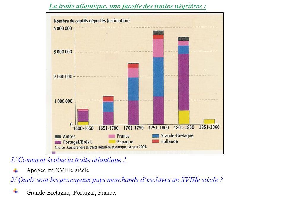 La traite atlantique, une facette des traites négrières :