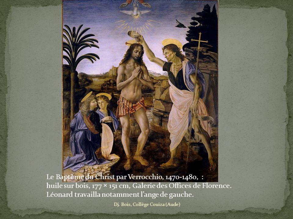 Le Baptème du Christ par Verrocchio, 1470-1480, :