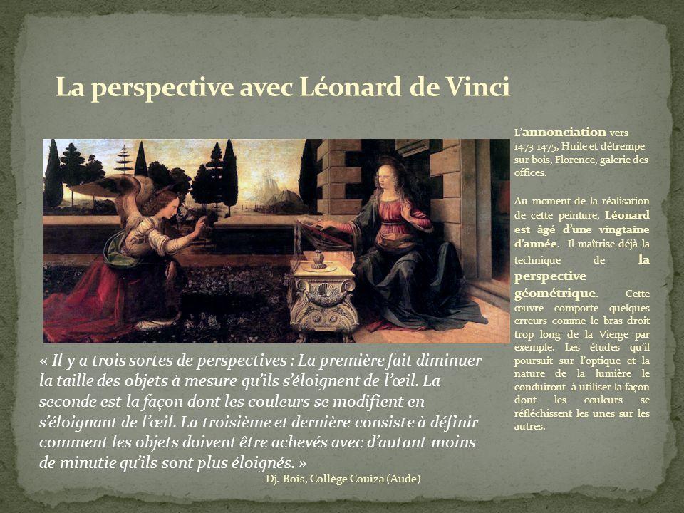 La perspective avec Léonard de Vinci