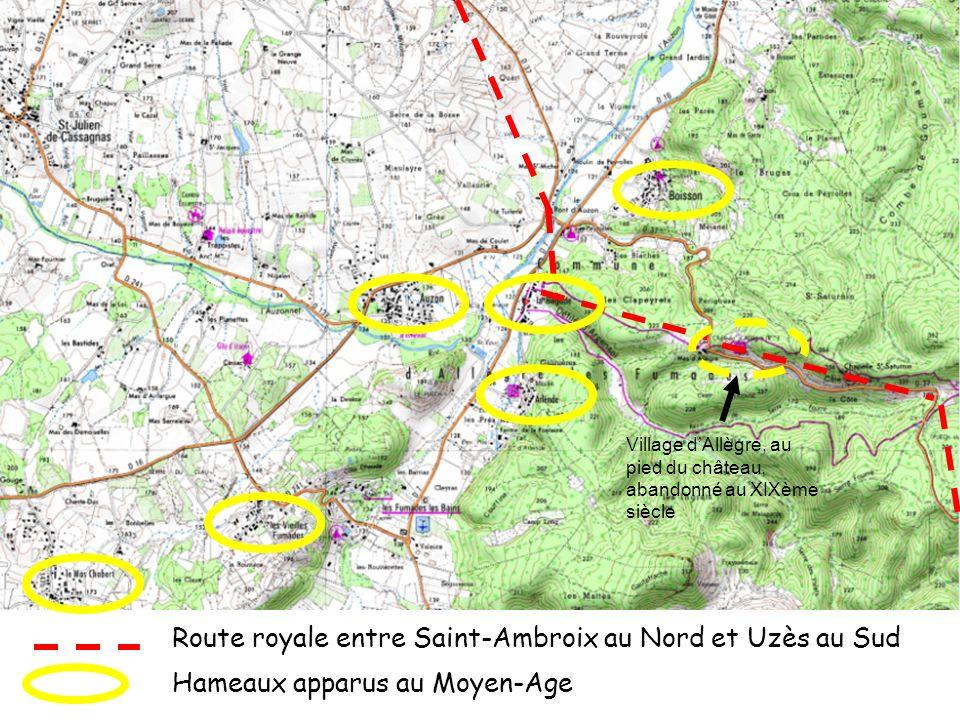 Route royale entre Saint-Ambroix au Nord et Uzès au Sud