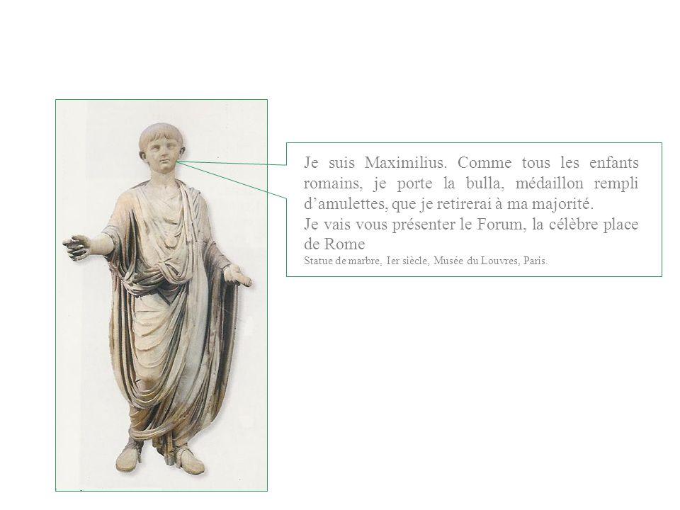 Je vais vous présenter le Forum, la célèbre place de Rome