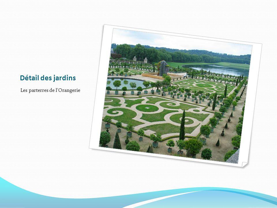 Détail des jardins Les parterres de l'Orangerie