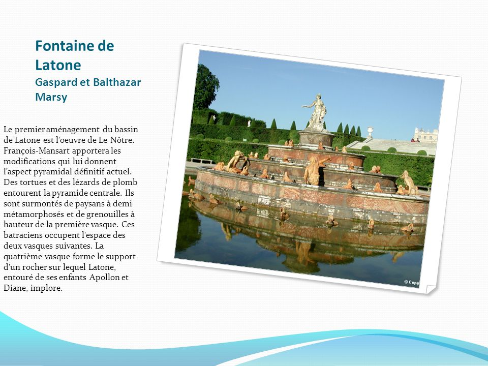 Fontaine de Latone Gaspard et Balthazar Marsy