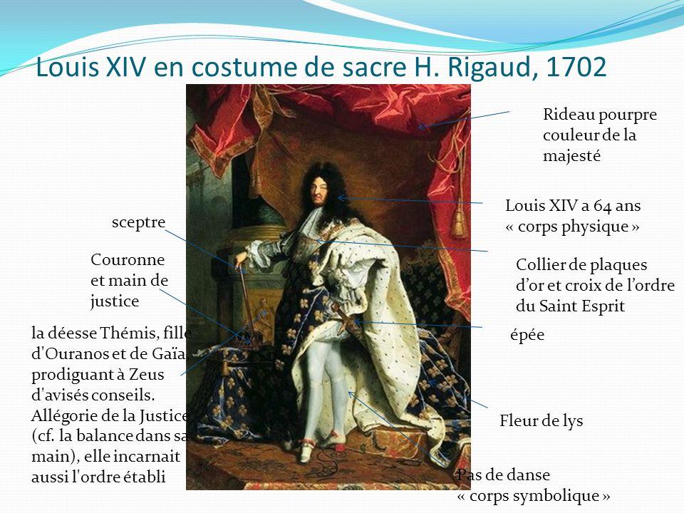 Louis XIV en costume de sacre H. Rigaud, 1702