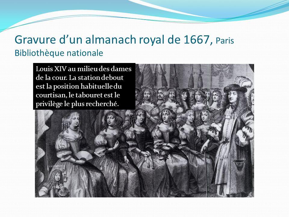 Gravure d'un almanach royal de 1667, Paris Bibliothèque nationale