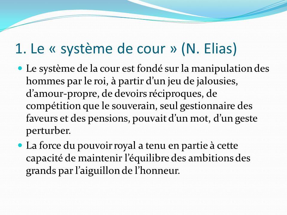 1. Le « système de cour » (N. Elias)