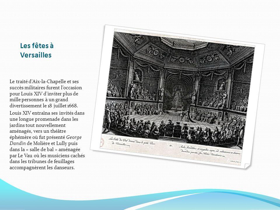 Les fêtes à Versailles