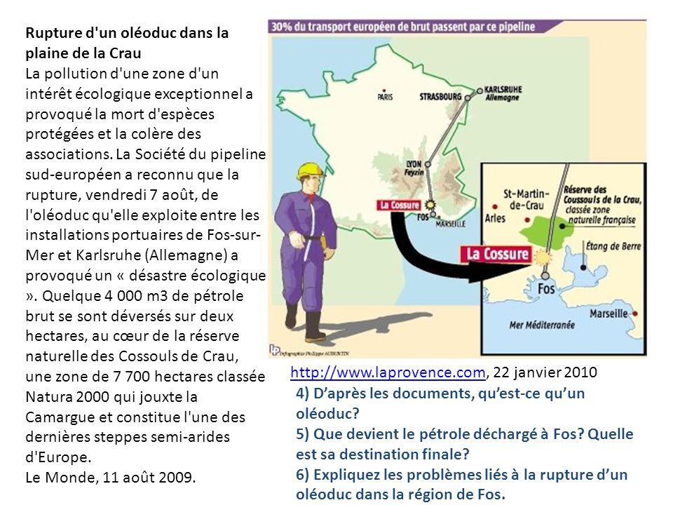 Rupture d un oléoduc dans la plaine de la Crau