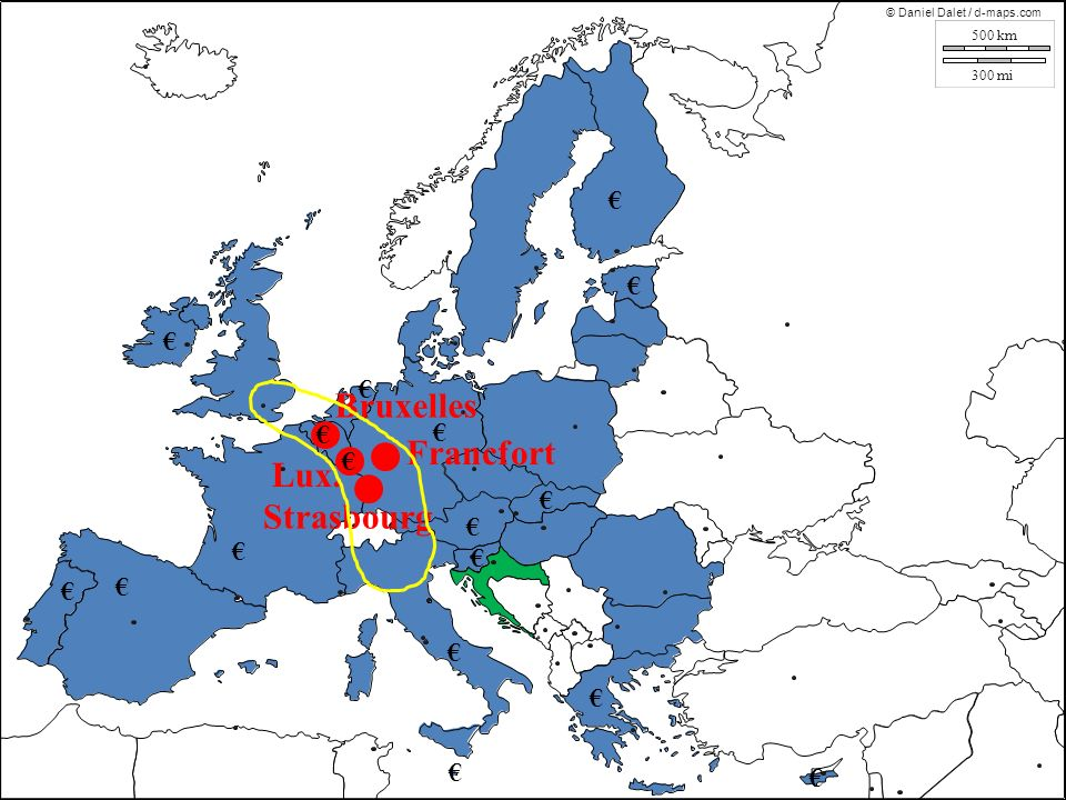 Bruxelles Francfort Lux. Strasbourg € € € € € € € € € € € € € € € € €