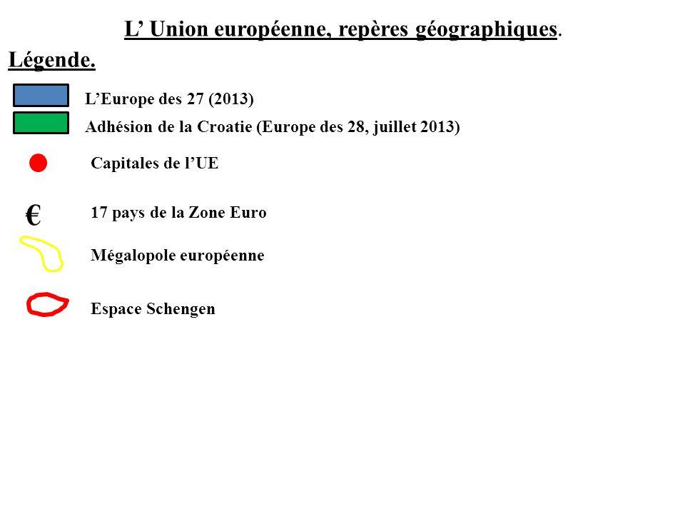 L' Union européenne, repères géographiques.