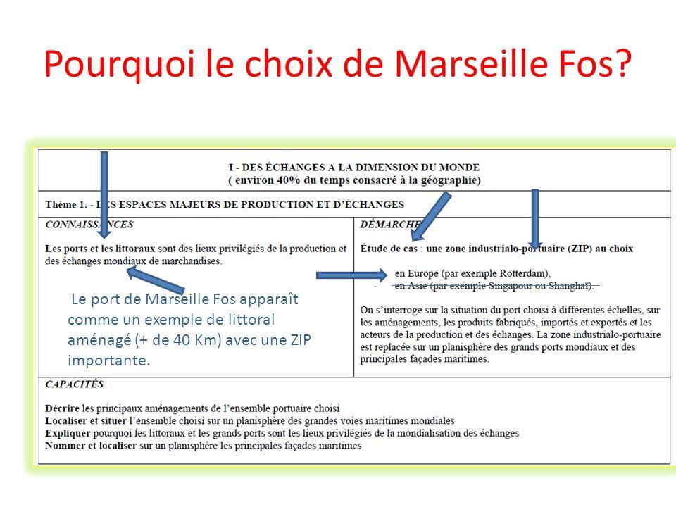 Pourquoi le choix de Marseille Fos