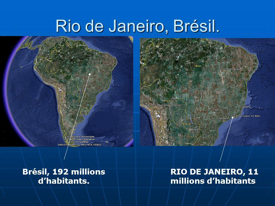 Brésil, 192 millions d'habitants.