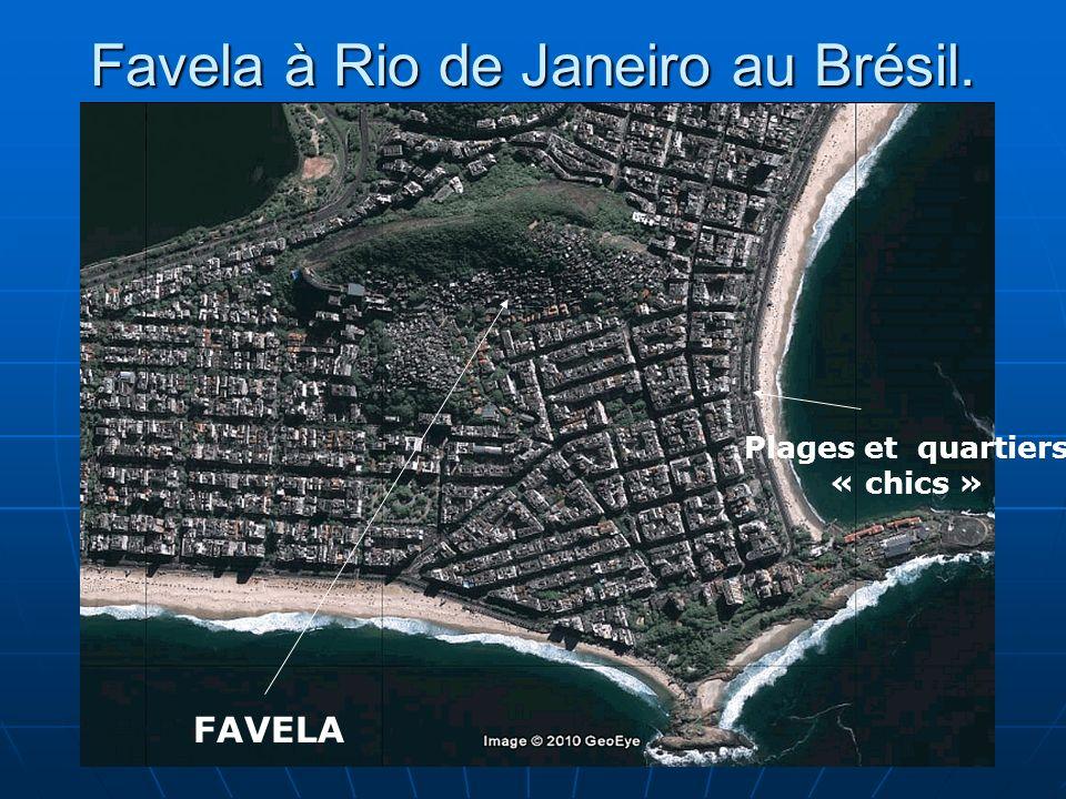 Favela à Rio de Janeiro au Brésil.
