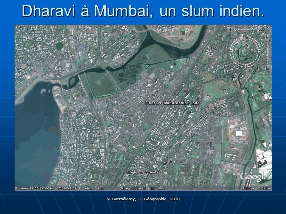 Dharavi à Mumbai, un slum indien.