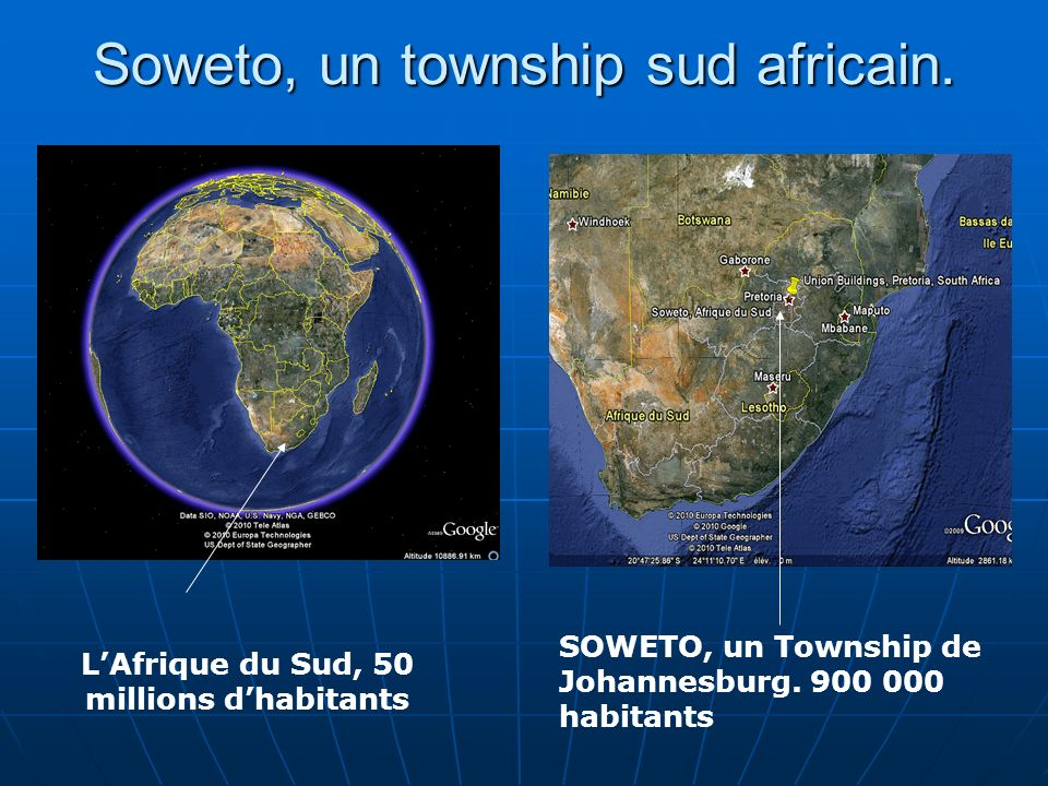 Soweto, un township sud africain.