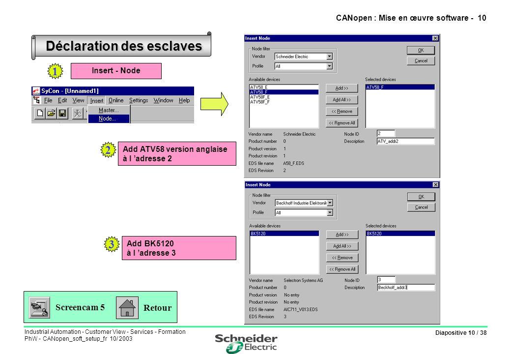 CANopen : Mise en œuvre software - 10