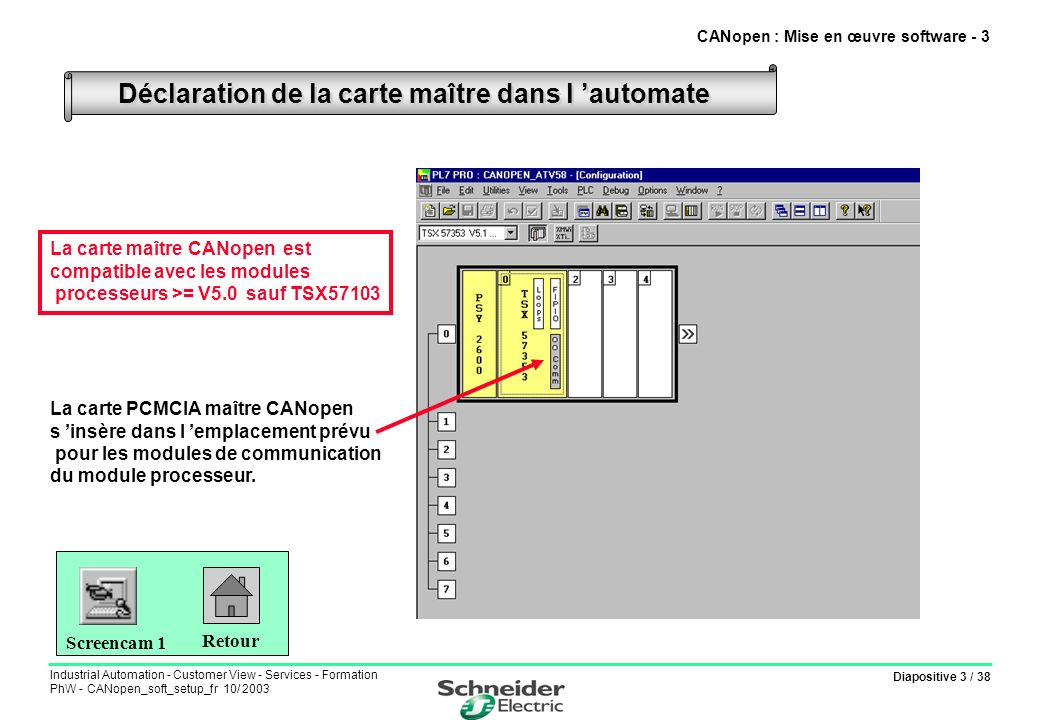 CANopen : Mise en œuvre software - 3
