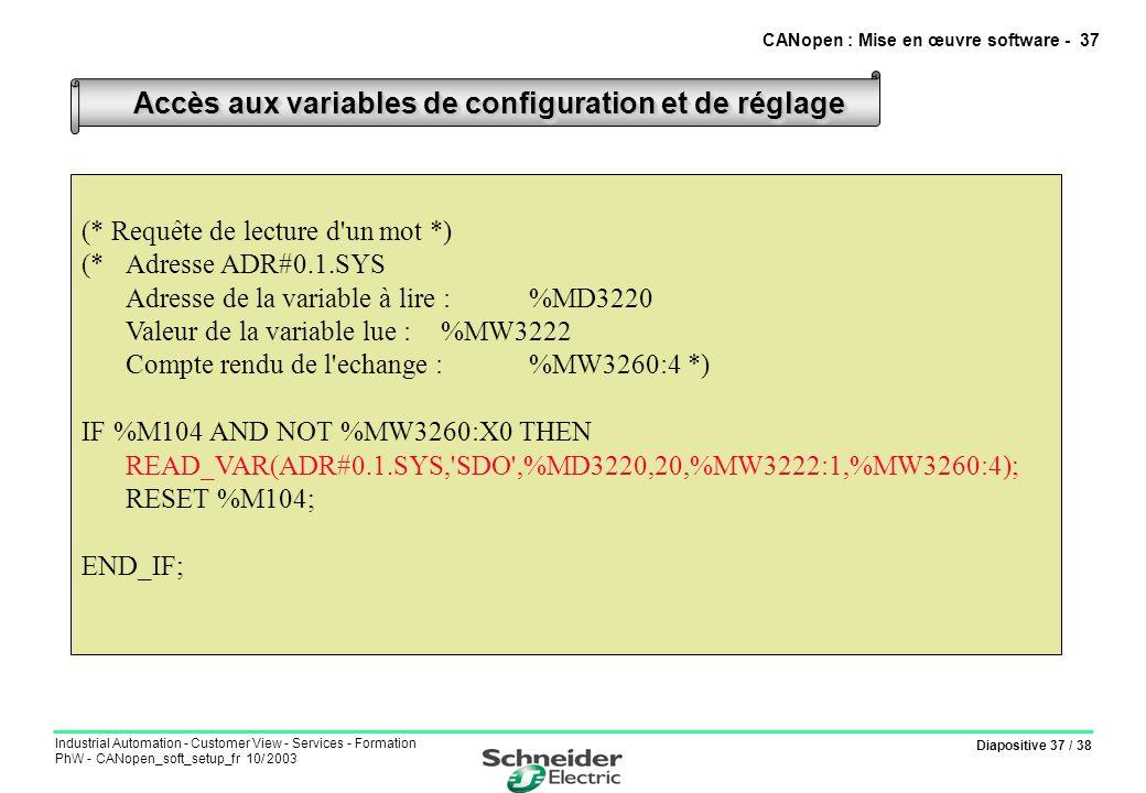 CANopen : Mise en œuvre software - 37