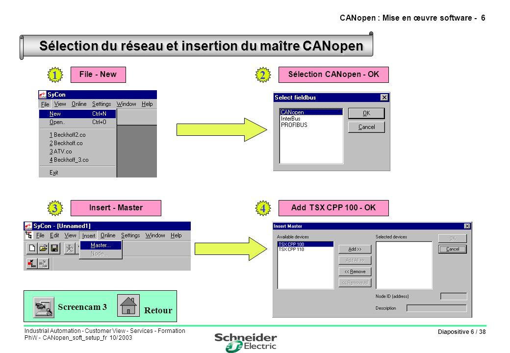 CANopen : Mise en œuvre software - 6
