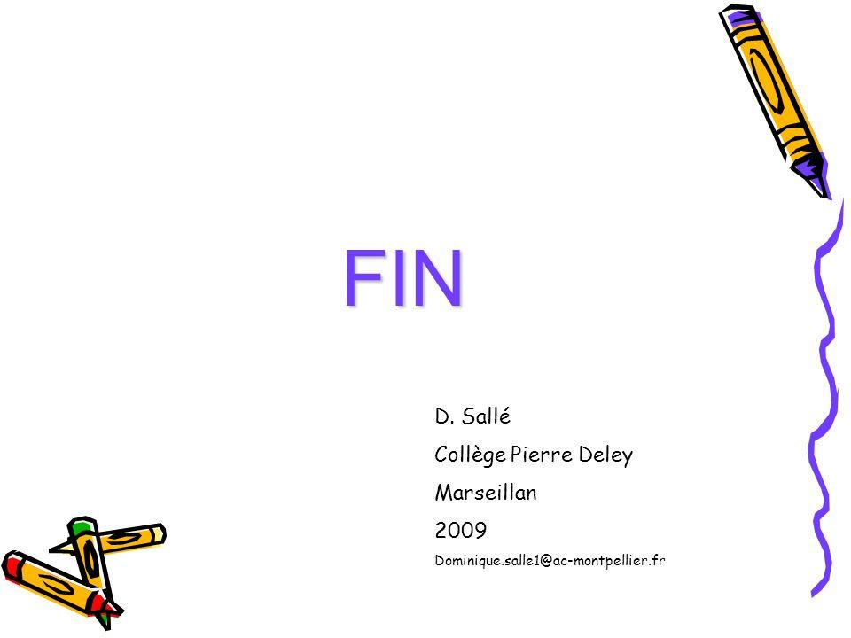FIN D. Sallé Collège Pierre Deley Marseillan 2009