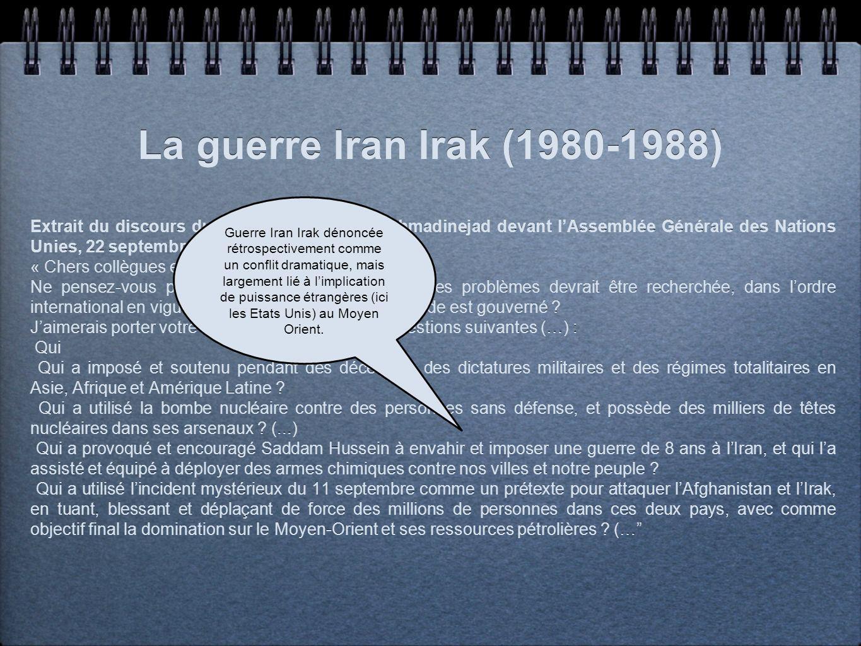 La guerre Iran Irak (1980-1988)