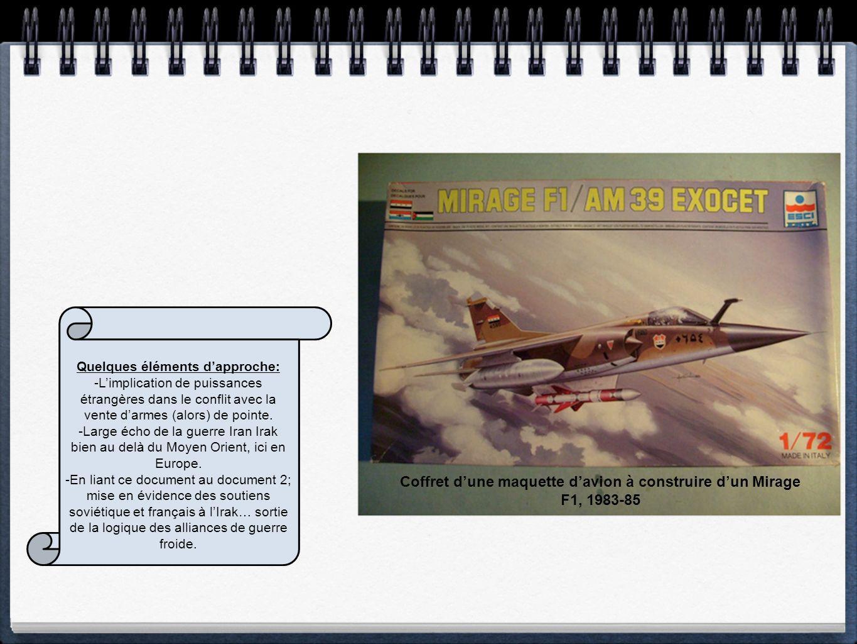 Coffret d'une maquette d'avion à construire d'un Mirage F1, 1983-85