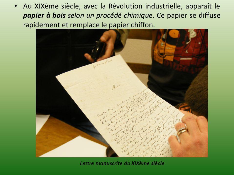 Lettre manuscrite du XIXème siècle