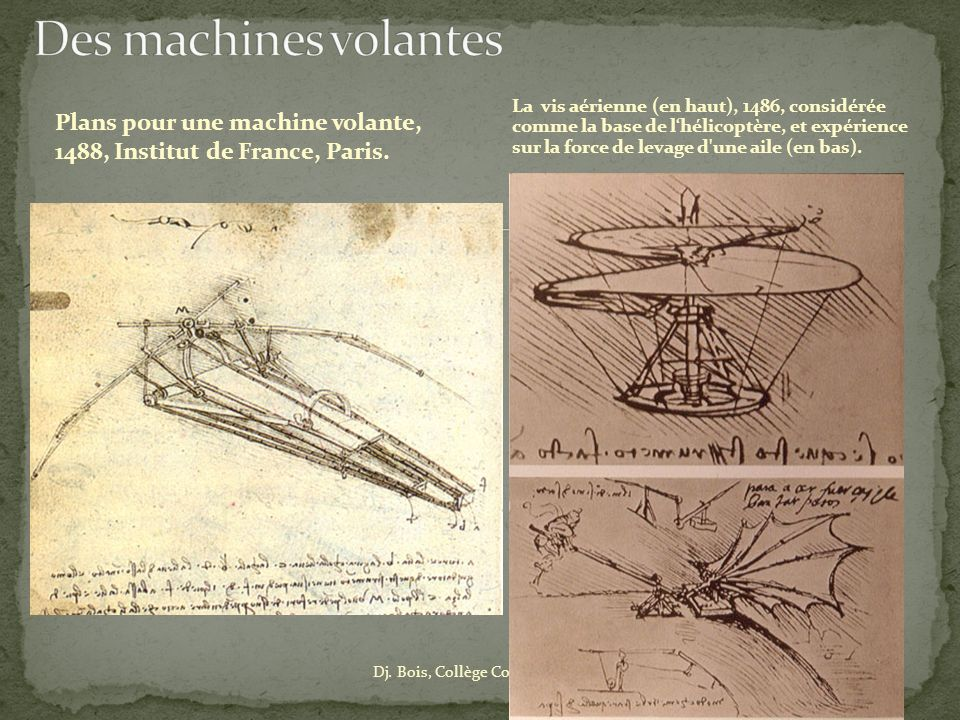Des machines volantes
