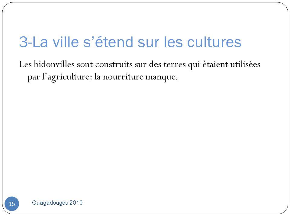 3-La ville s'étend sur les cultures