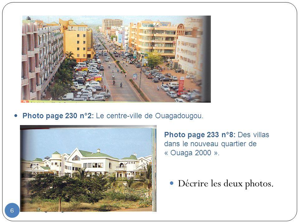 Décrire les deux photos.