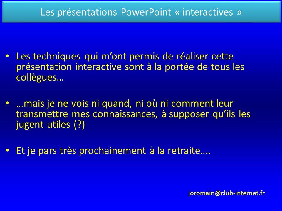 Les présentations PowerPoint « interactives »