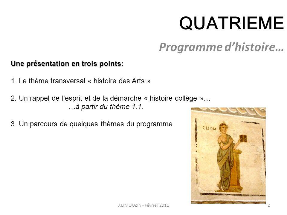 HISTOIRE - Classe de quatrième Programme d'histoire…