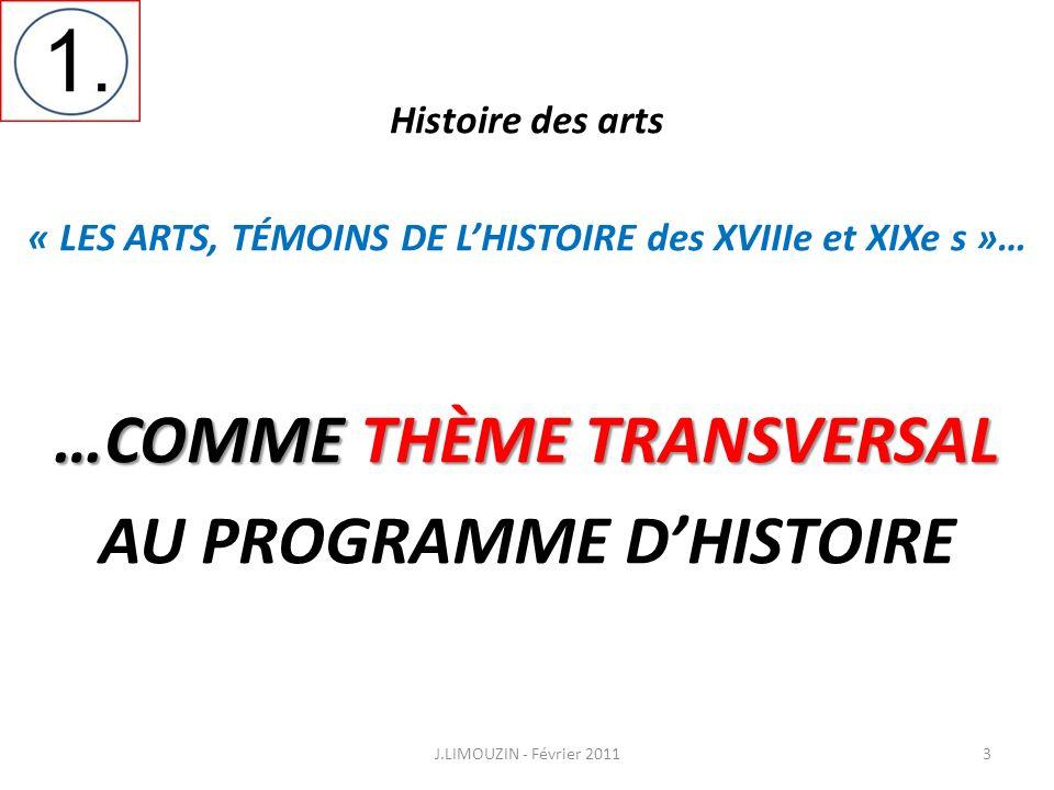 …COMME THÈME TRANSVERSAL AU PROGRAMME D'HISTOIRE