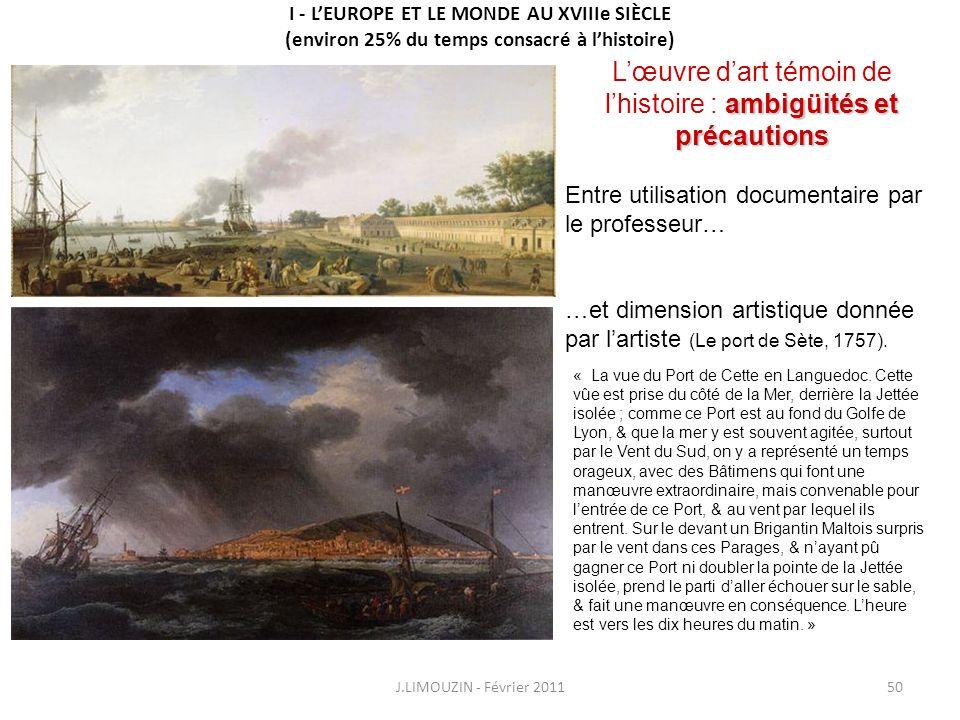 L'œuvre d'art témoin de l'histoire : ambigüités et précautions