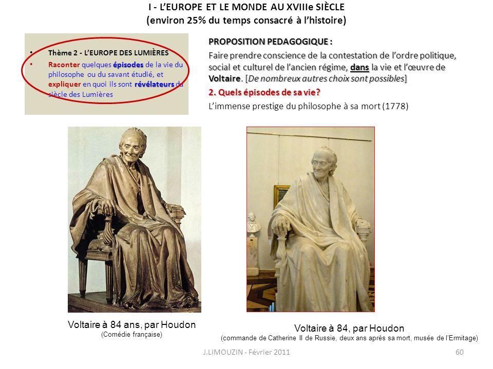 Voltaire à 84 ans, par Houdon