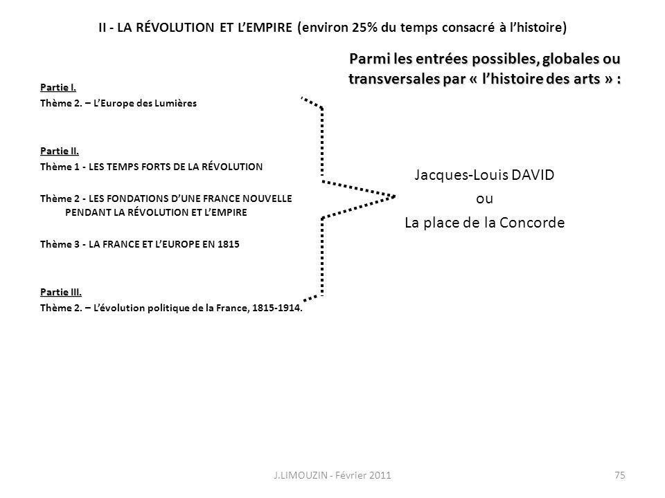 II - LA RÉVOLUTION ET L'EMPIRE (environ 25% du temps consacré à l'histoire)
