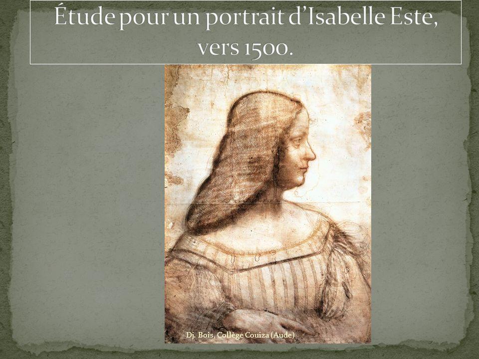 Étude pour un portrait d'Isabelle Este, vers 1500.