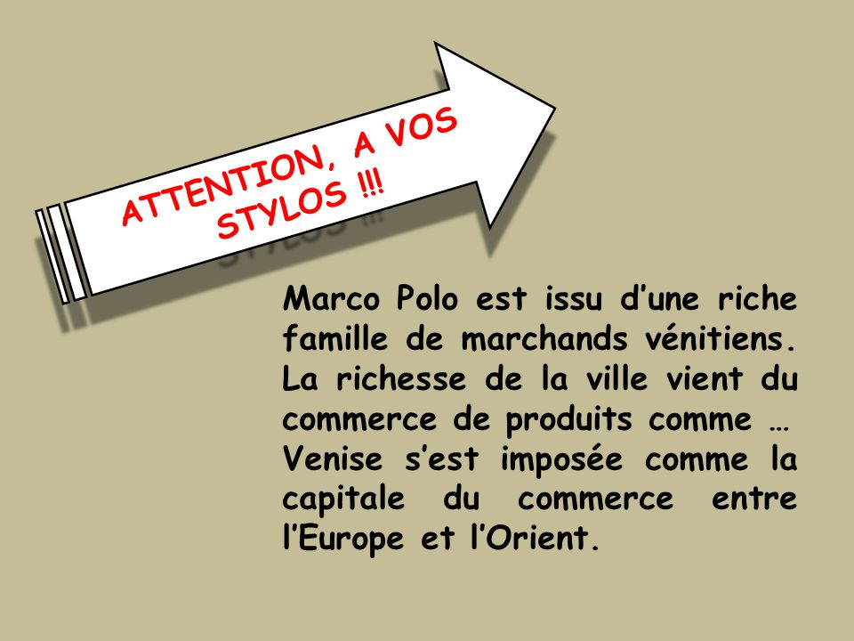 ATTENTION, A VOS STYLOS !!!