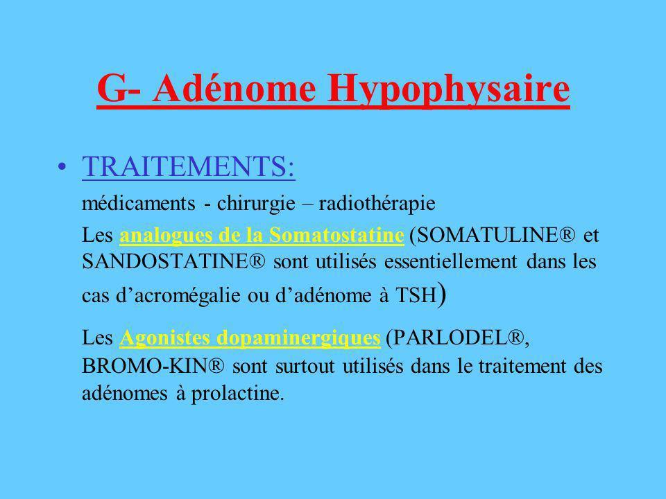 G- Adénome Hypophysaire