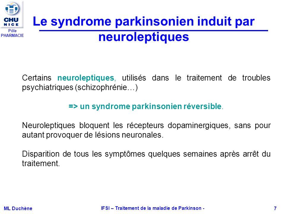 Le syndrome parkinsonien induit par neuroleptiques