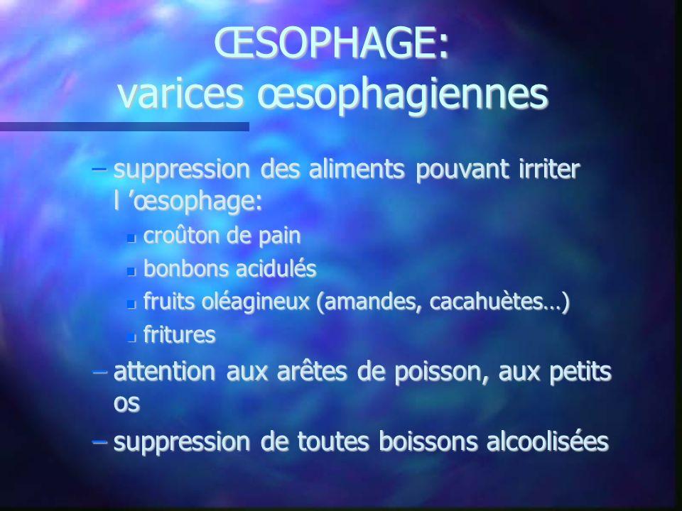 ŒSOPHAGE: varices œsophagiennes