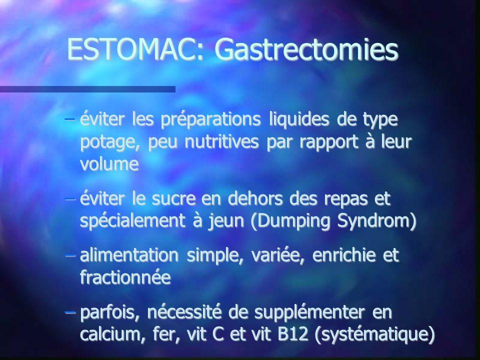 ESTOMAC: Gastrectomies