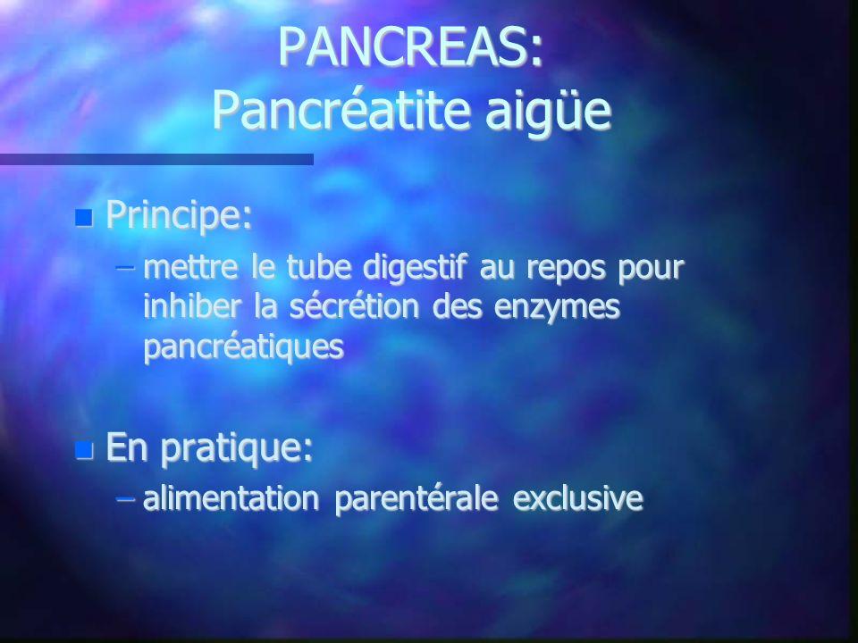 PANCREAS: Pancréatite aigüe