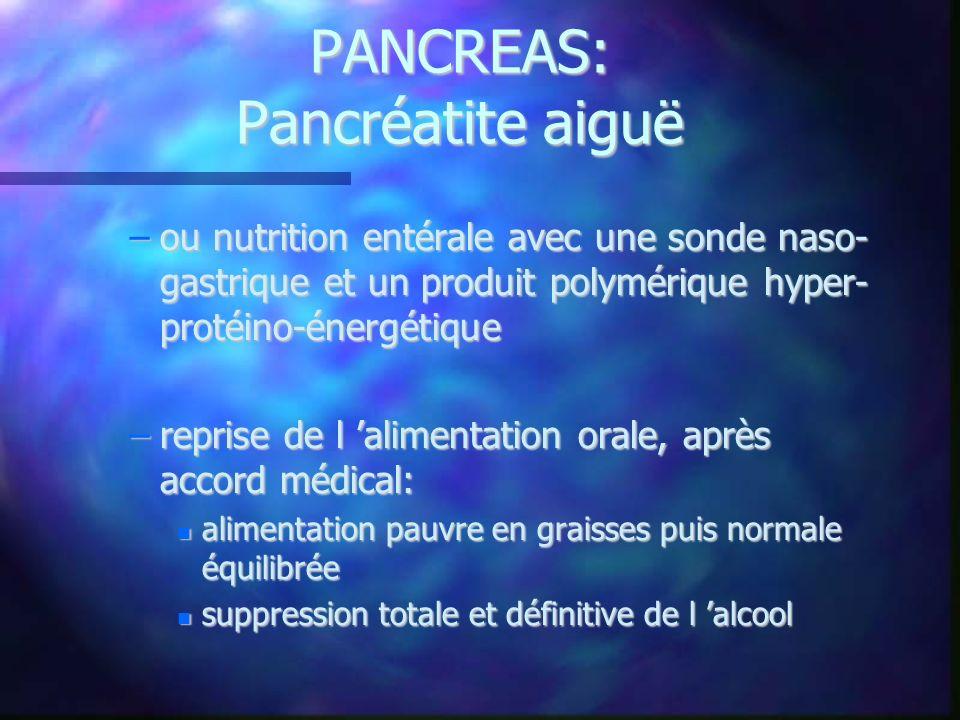 PANCREAS: Pancréatite aiguë