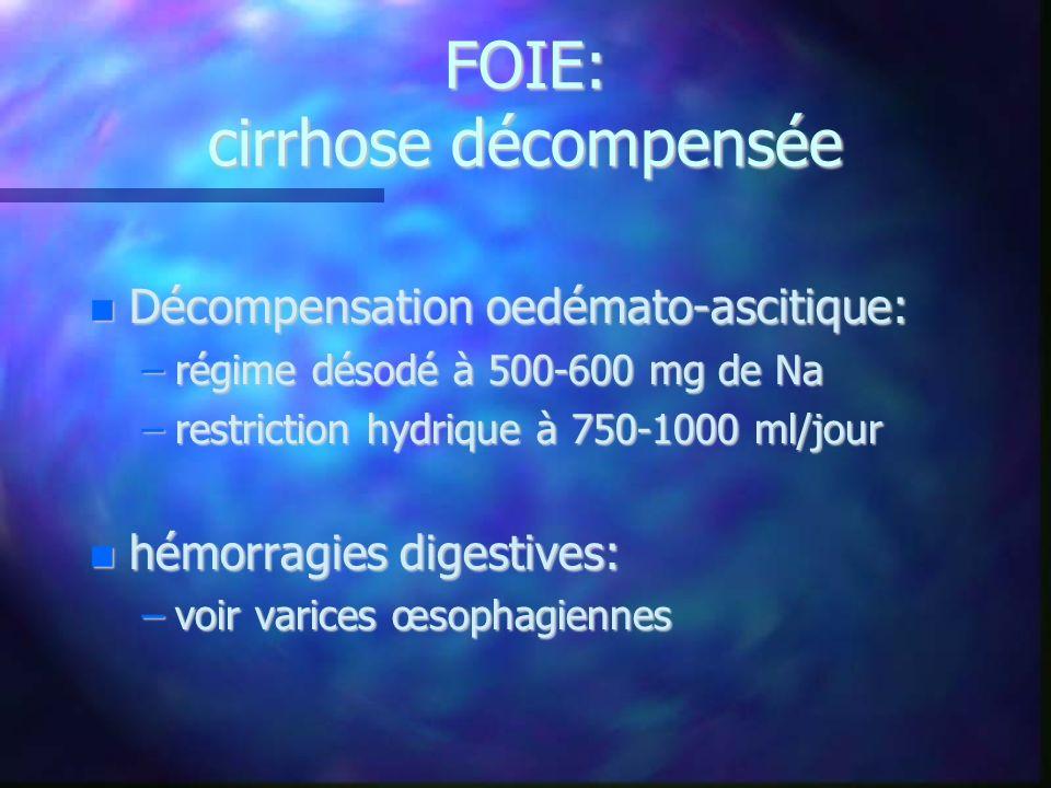 FOIE: cirrhose décompensée