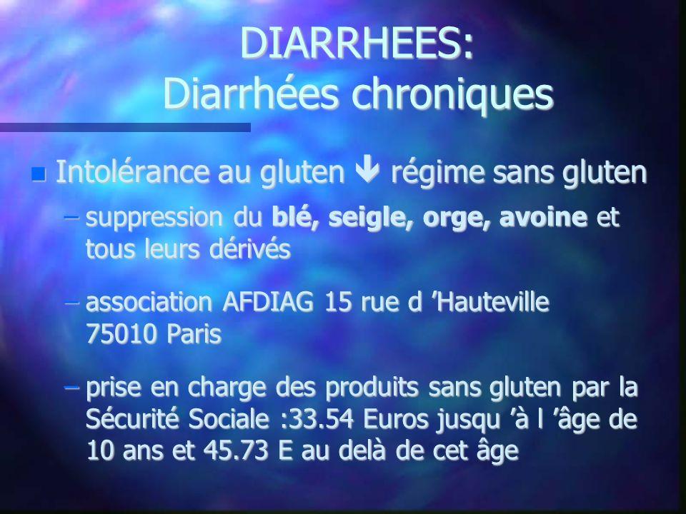 DIARRHEES: Diarrhées chroniques