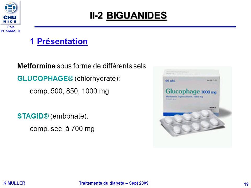 II-2 BIGUANIDES 1 Présentation