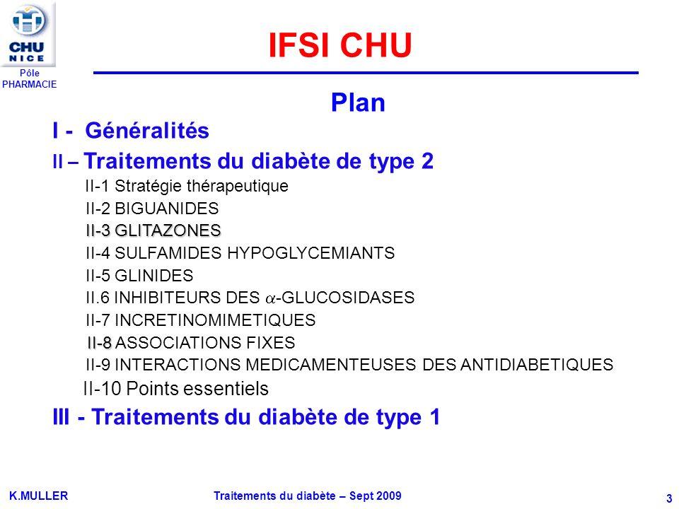 IFSI CHU Plan I - Généralités III - Traitements du diabète de type 1