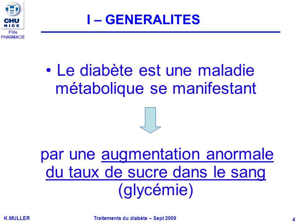 Le diabète est une maladie métabolique se manifestant