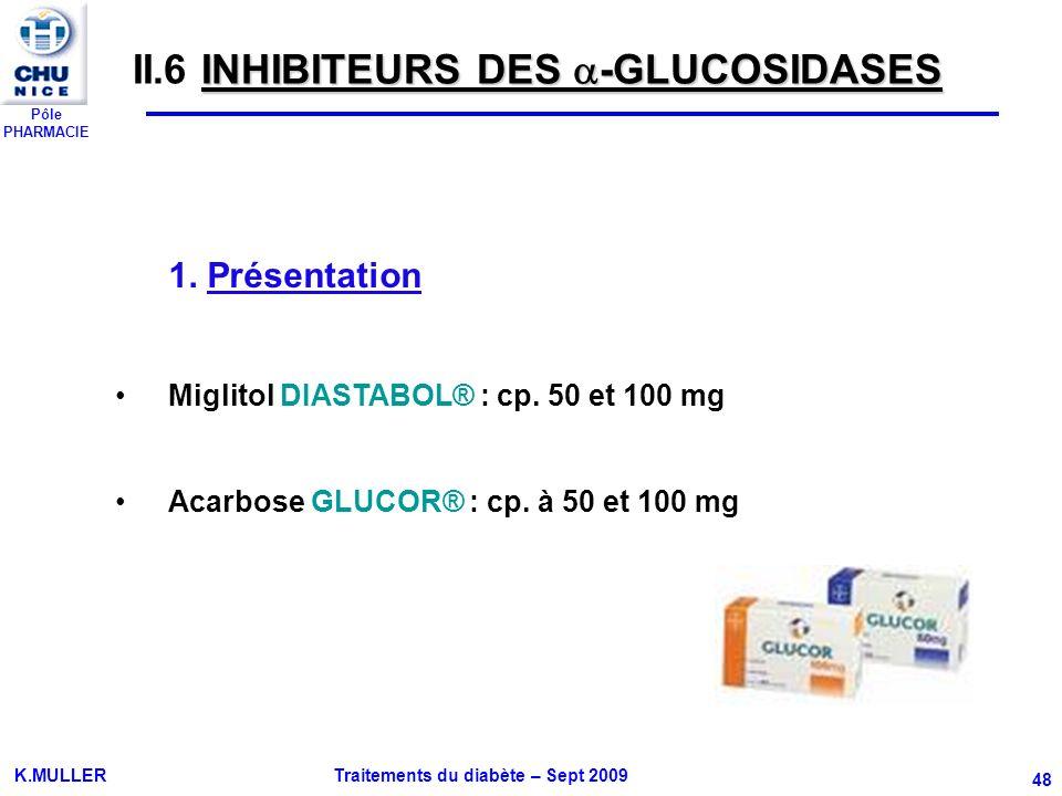 II.6 INHIBITEURS DES -GLUCOSIDASES